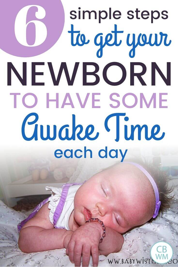 Newborn awake time pinnable image