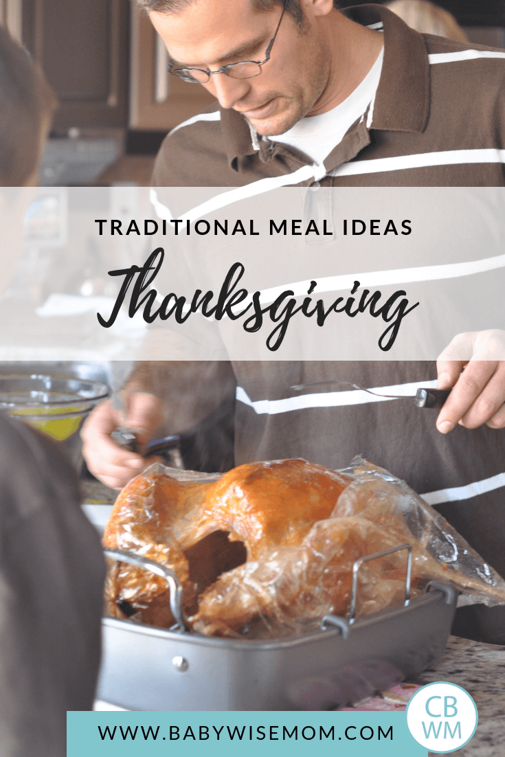 Thanksgiving Meal Ideas. Thanksgiving menu items for side dishes, main dishes, and dessert. Traditional ideas and non-traditional Thanksgiving meal ideas with a man carving a turkey