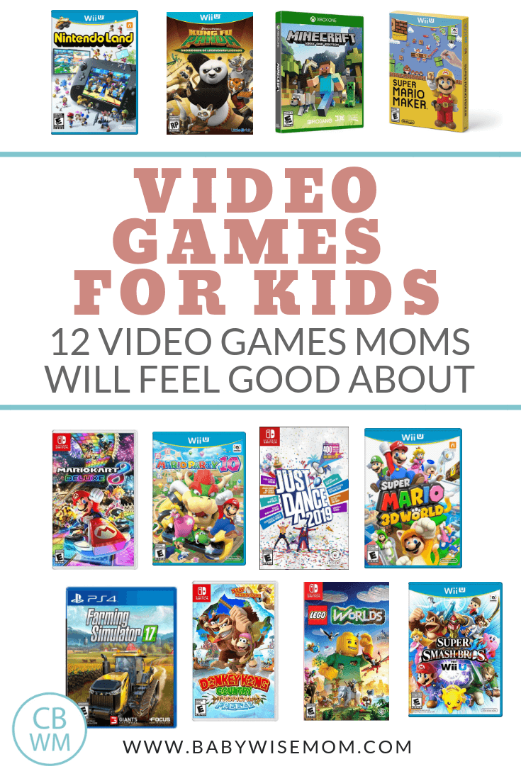12 Best Video Games for Kids Moms Will Feel Good About. Clean video games that are safe for children to play. Video game list for children.
