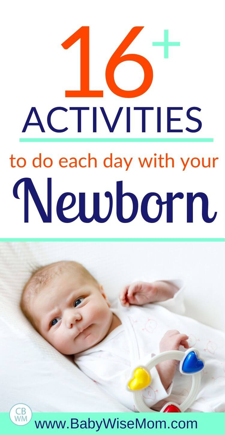 16 plus activities to do each day with a newborn pinnable image