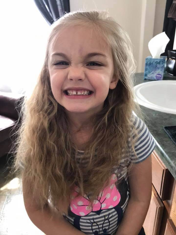 6 year old girl smiling