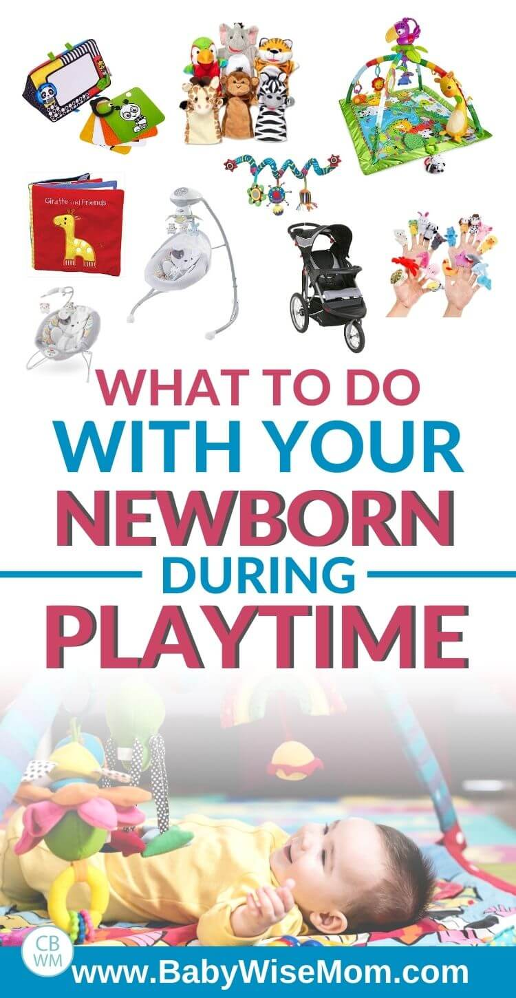 What to do with your newborn during playtime