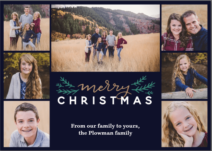 Plowman Family Christmas Cards