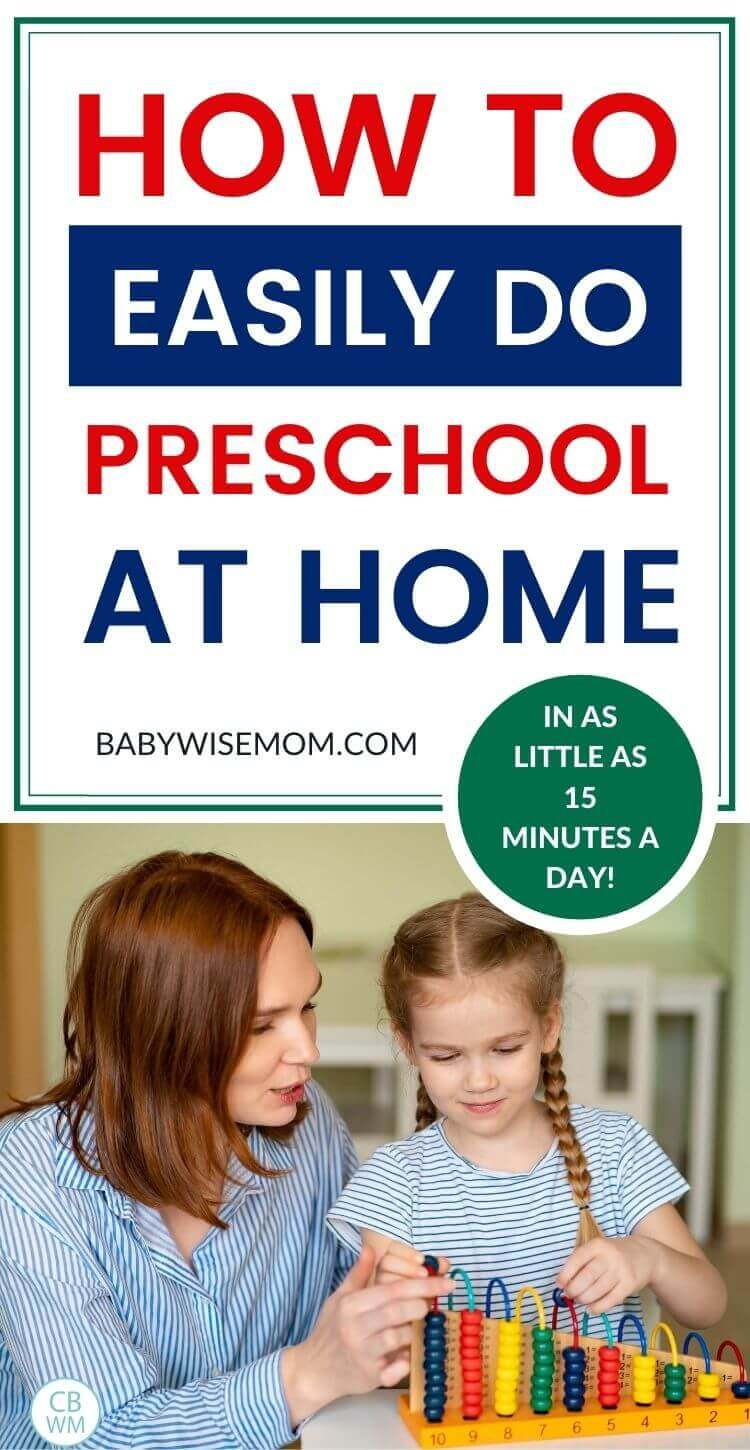 how to easily do preschool at home pinnable image