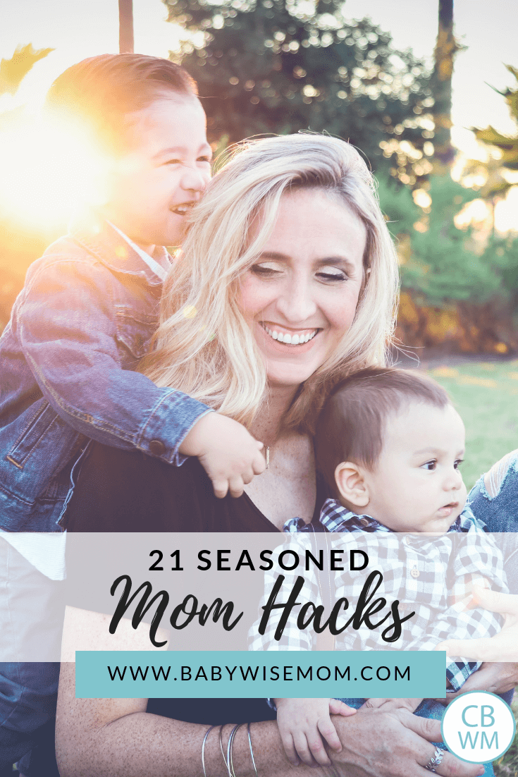 Seasoned Mom Hacks. Twenty-one parenting hacks and tips to help make it easier for you to manage your family and rock motherhood.