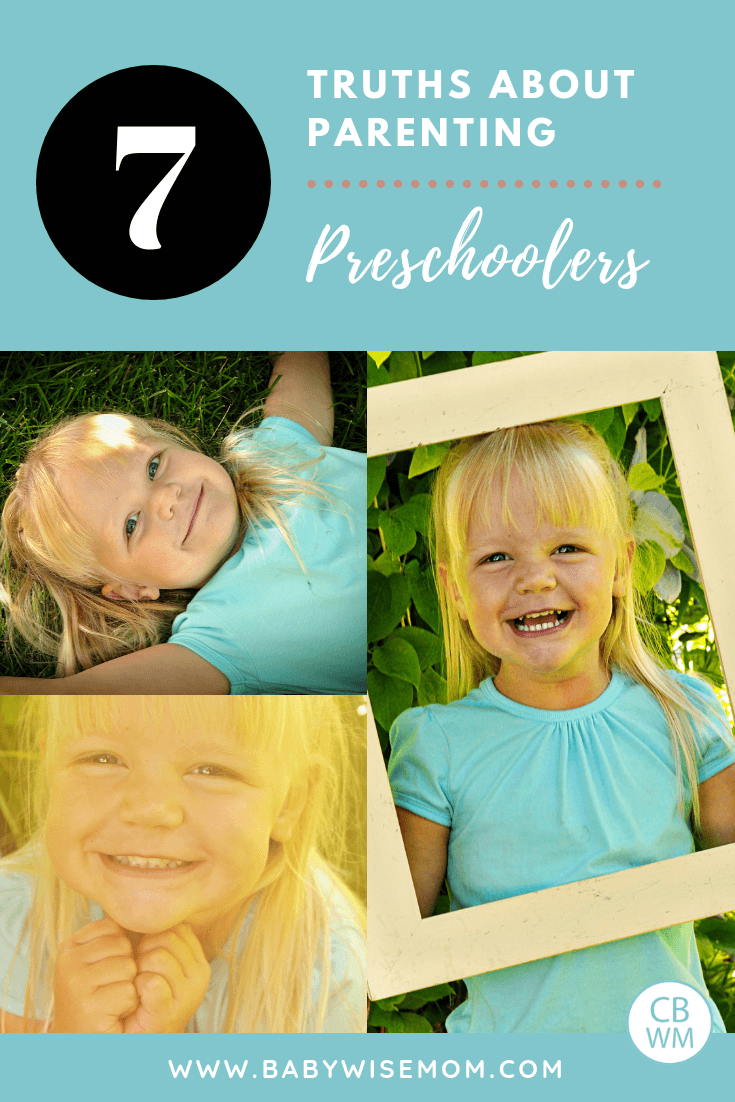 Truths About Parenting Preschoolers. What it is like parenting preschool children. Parenting tips to get you through the preschool years.