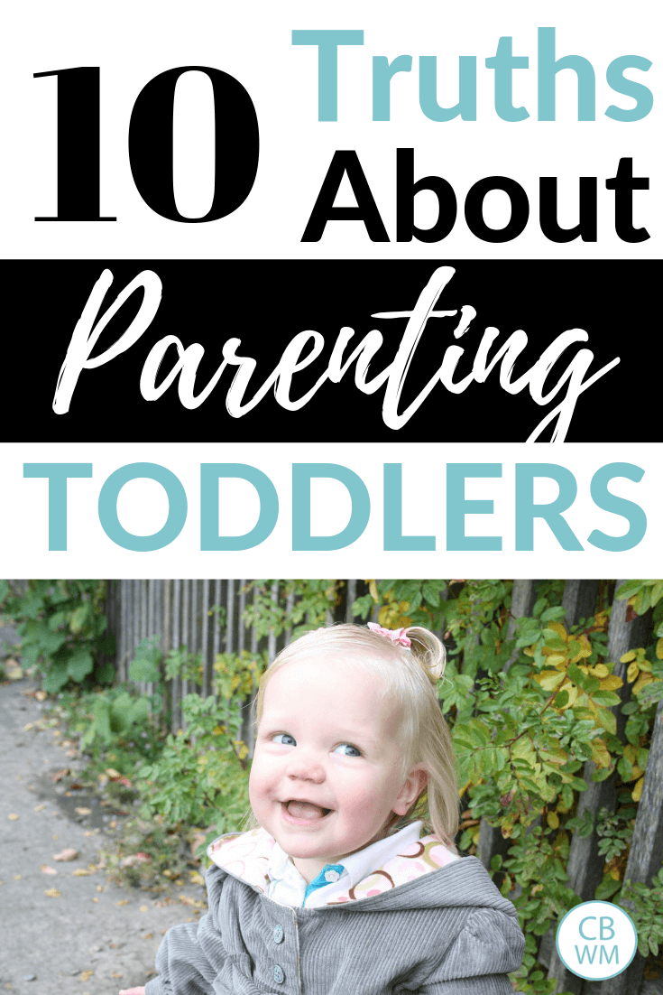 10 truths about parenting a toddler. Parenting tips to help make parenting your toddler smoother and easier. Know what to expect in the toddler years.