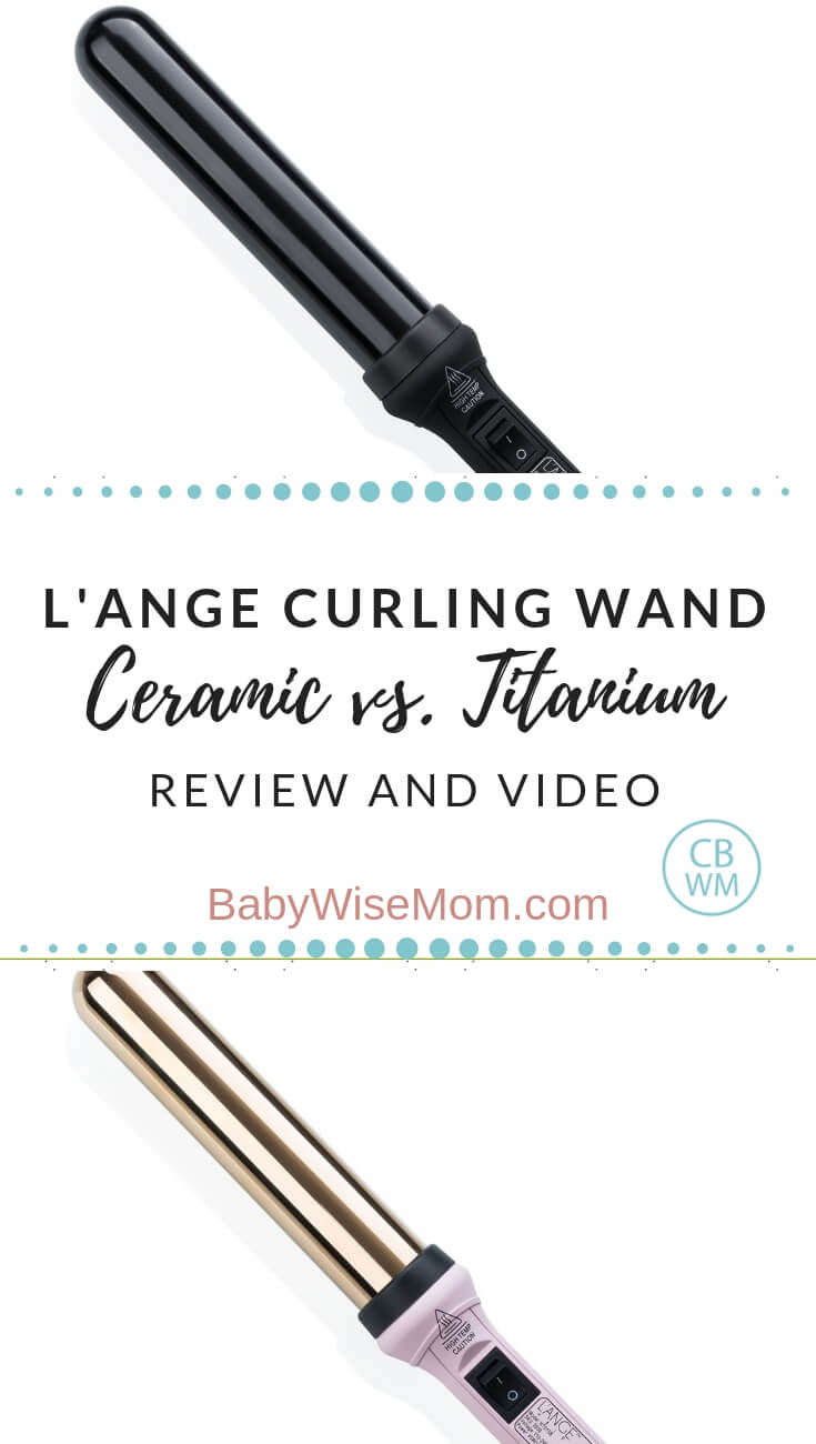 L'ANGE Curling Iron: Titanium vs. Ceramic. Learn the difference between titanium and ceramic curling wands. Video included!