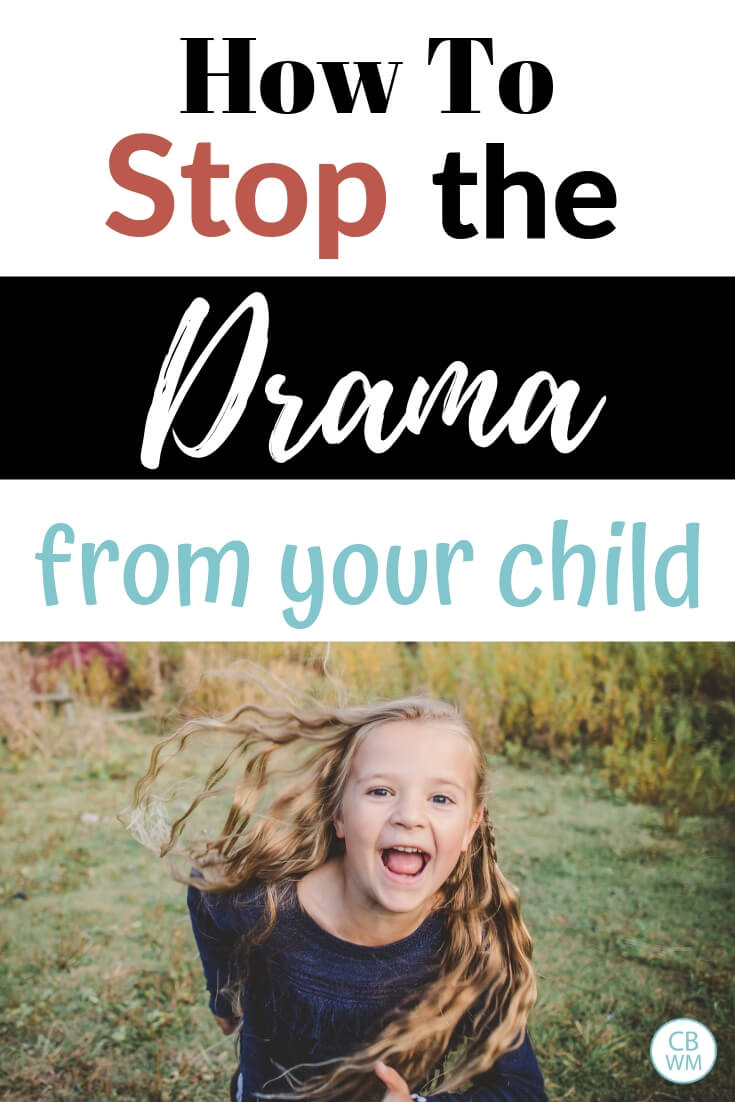 How to stop the drama from your child with a picture of a girl running toward the camera