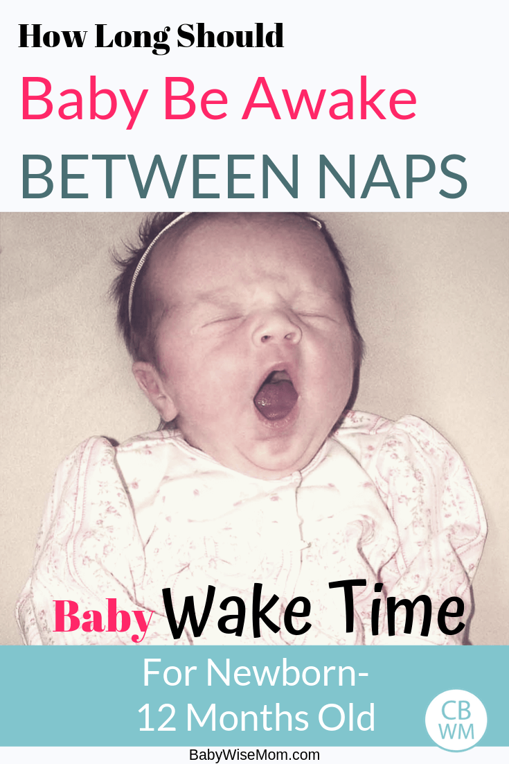 Baby yawning with text overlay