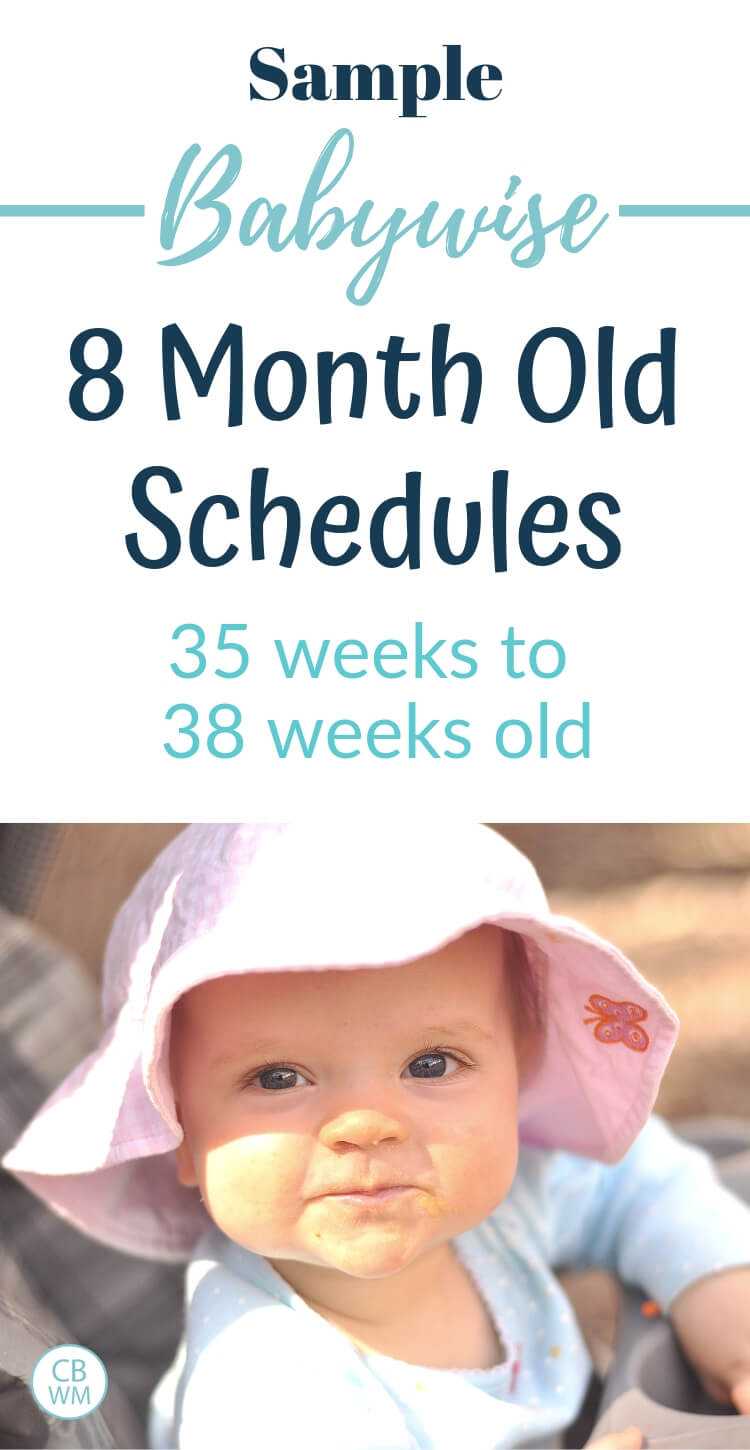 Sample Babywise 8 month old schedules with a picture of an 8 month old baby girl