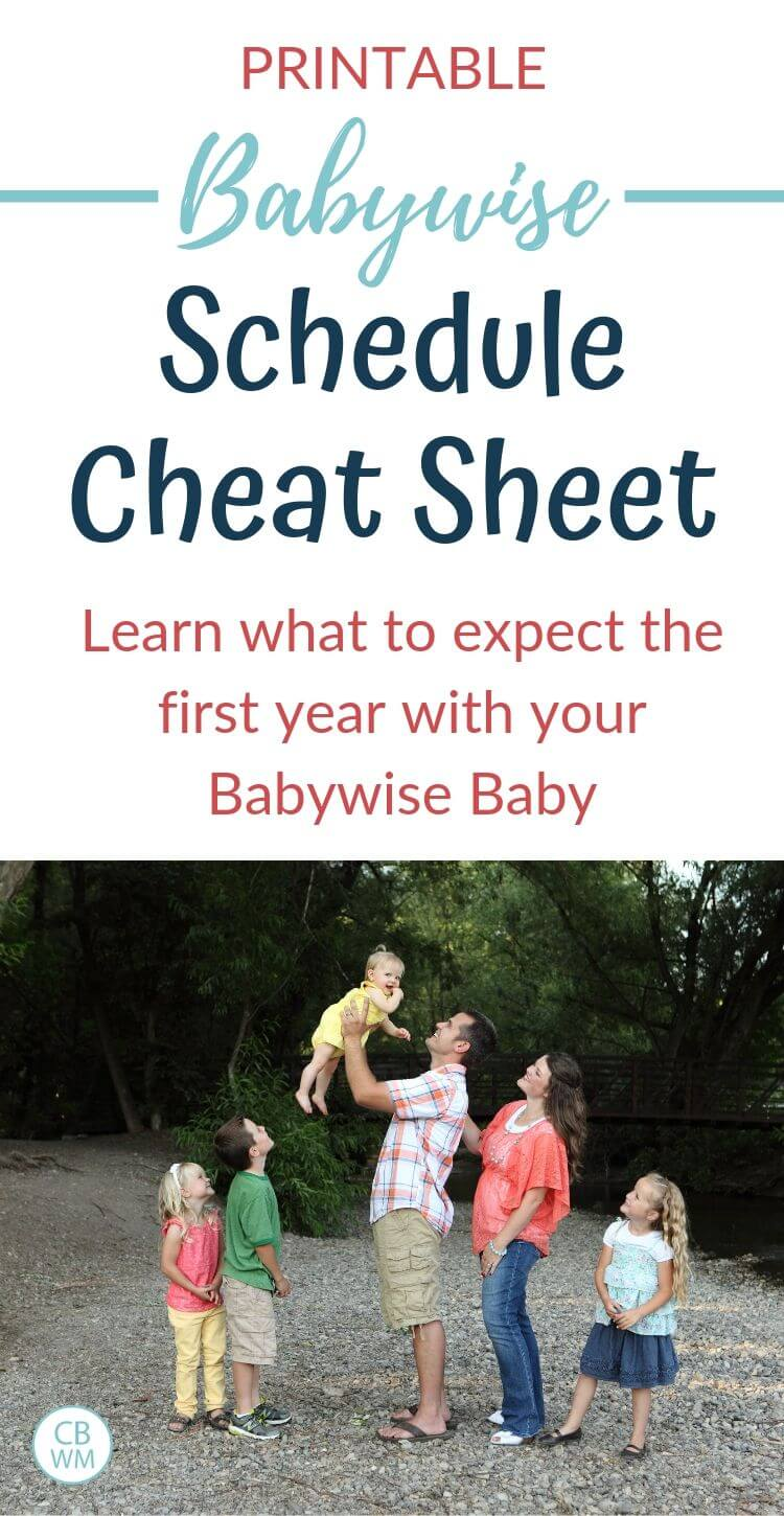 Babywise schedule cheat sheet pinnable image