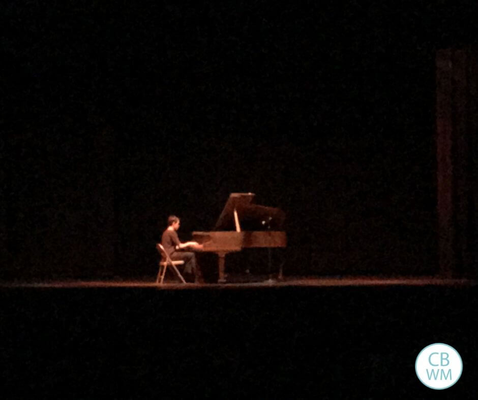 14 year old playing the grand piano