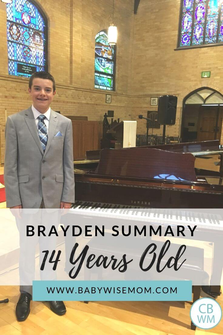 Brayden summary pinnable image with a photo of Brayden at the grand pianio
