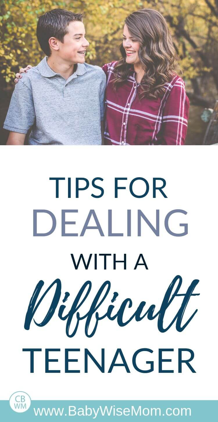 Tips for dealing with a difficult teenager