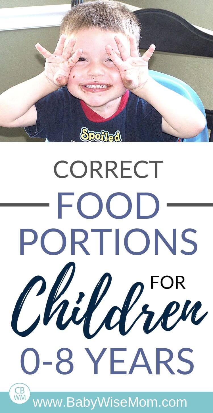 correct food portions pinnable image for Pinterest