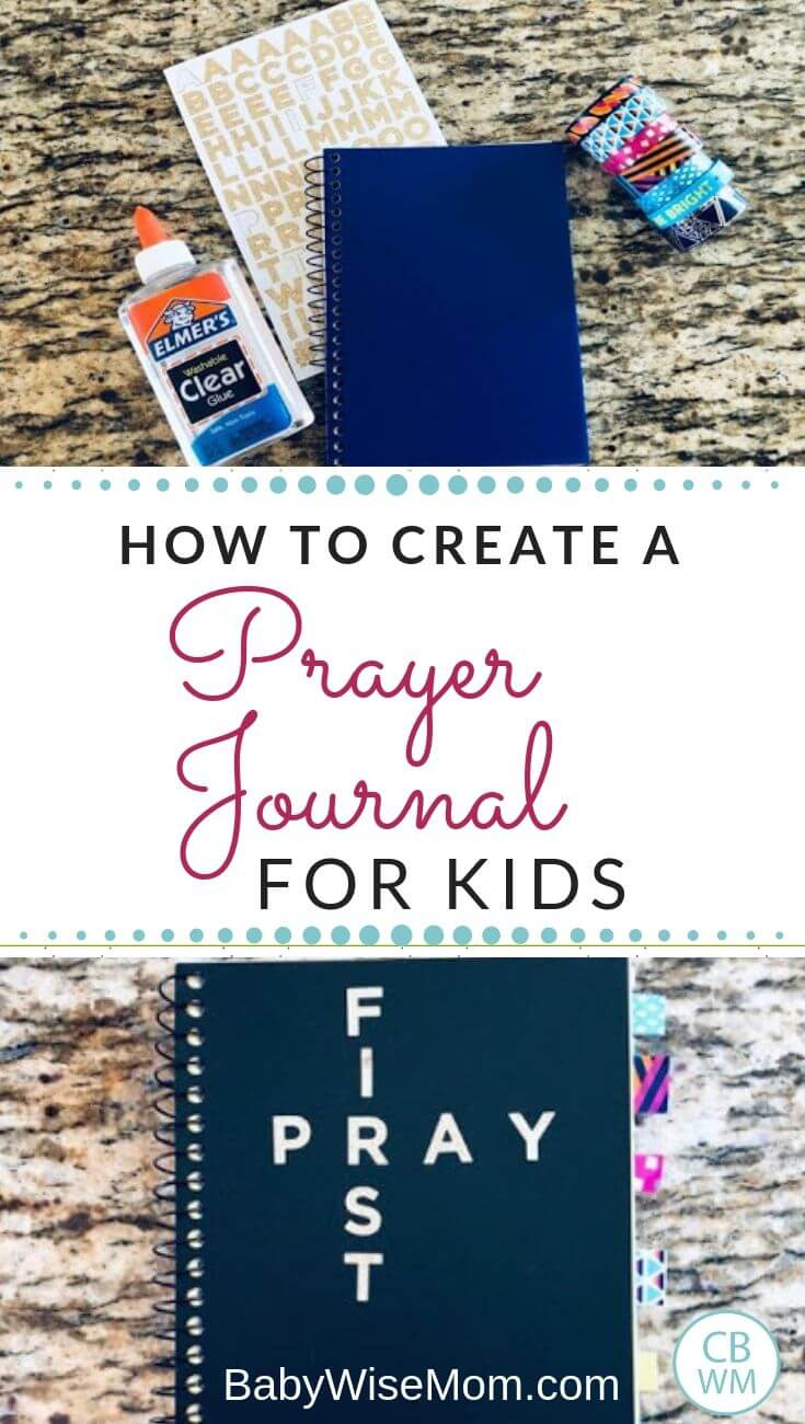 How to create a prayer journal for kids pinnable image