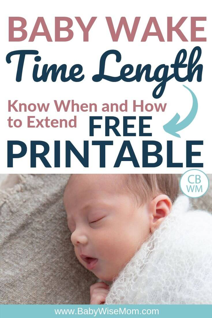 Pinnable image for knowing when to extend baby wake time length