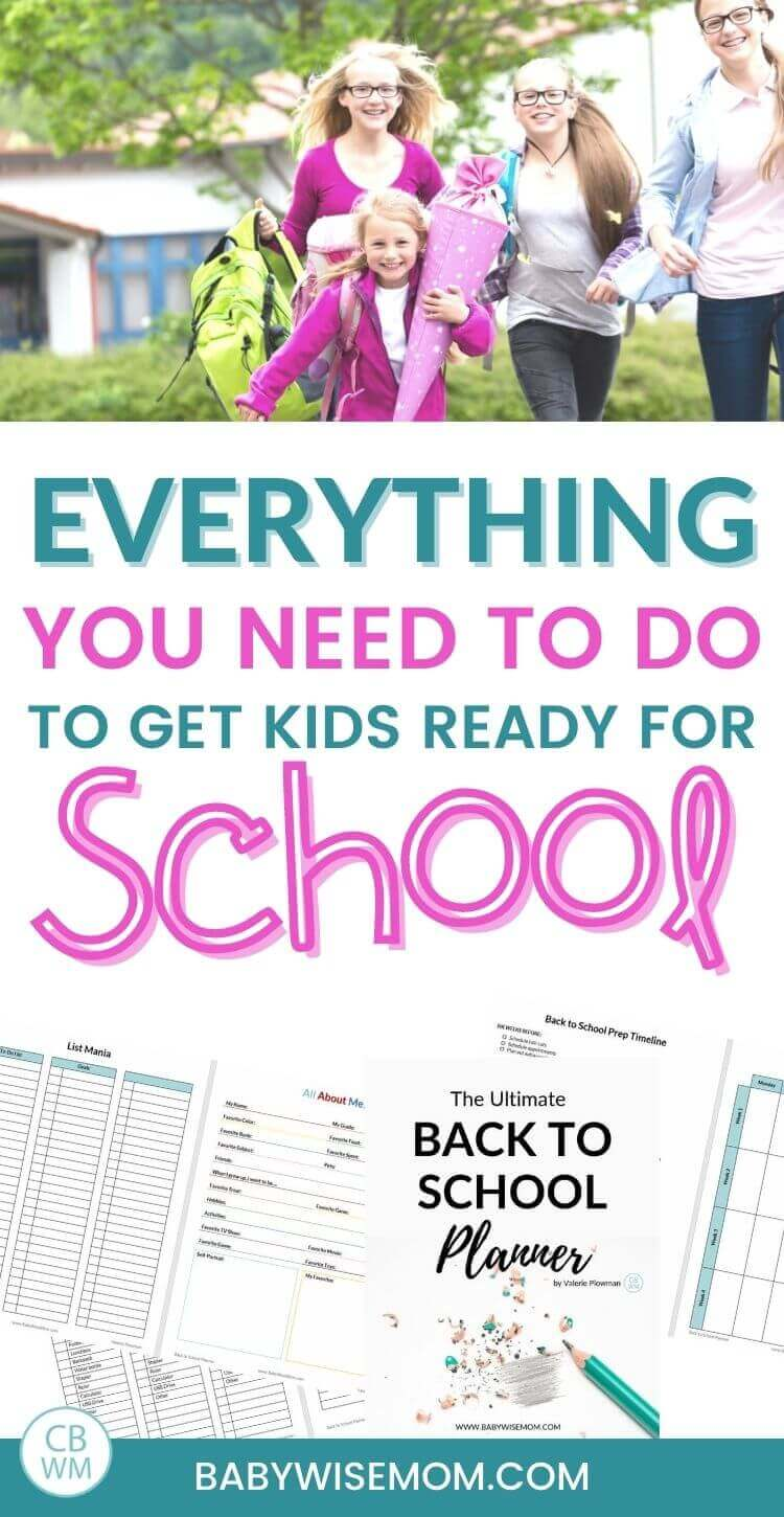list for getting ready for back to school pinnable image
