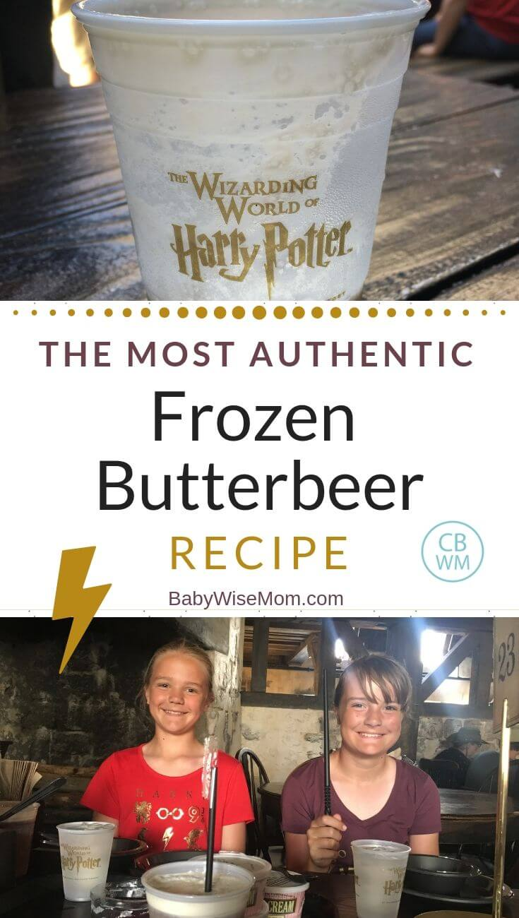 Authentic Frozen Butterbeer Copycat Recipe Pinnable image