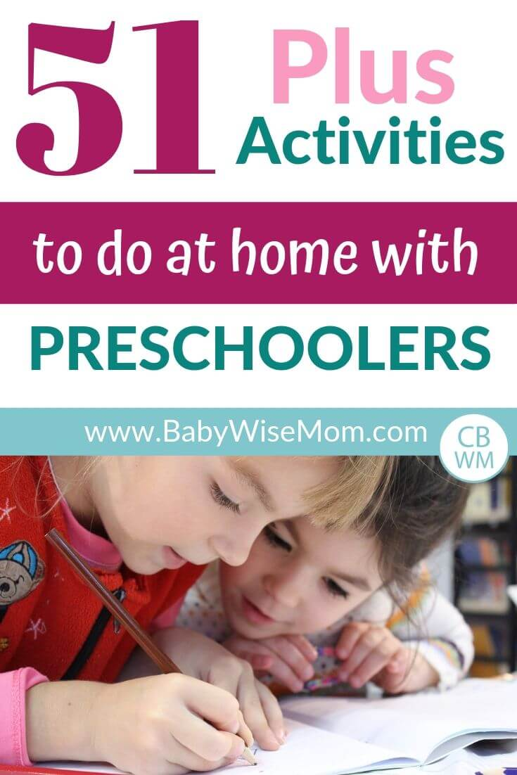 51 plus activities to do at home with preschoolers pinnable image