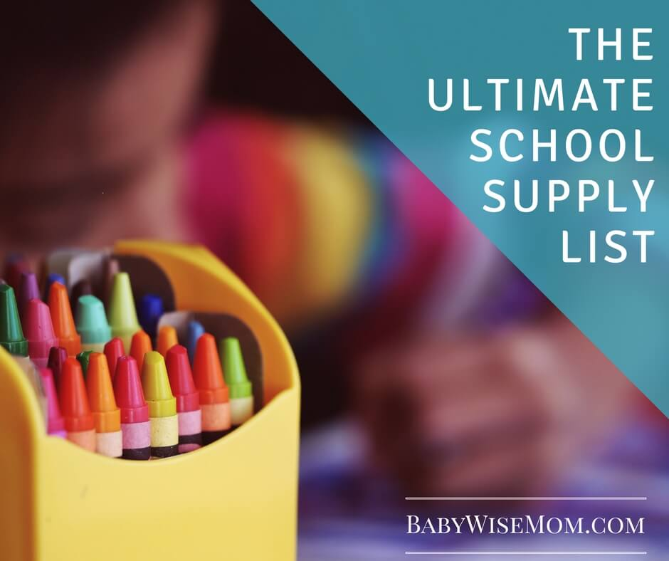 The Ultimate School Supply List for Elementary