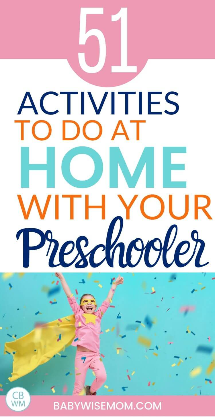 51 activities to do at home with your preschooler pinnable image