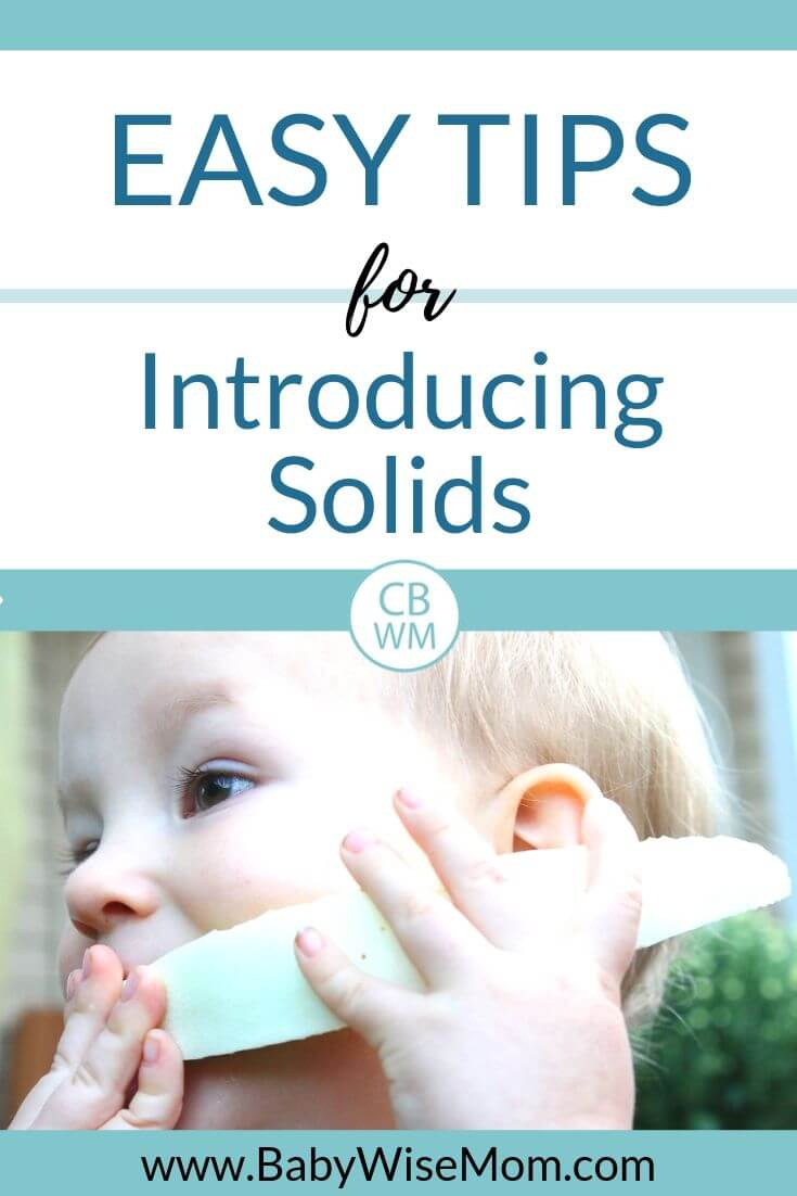 Easy tips for introducing solids pinnable image