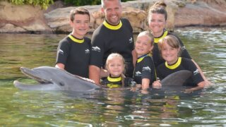 Family at Discovery Cove, Florida