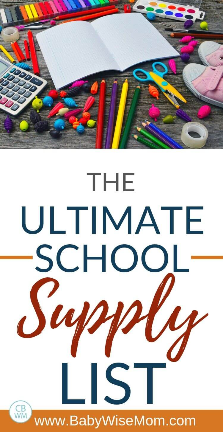 Ultimate School Supply List pinnable image