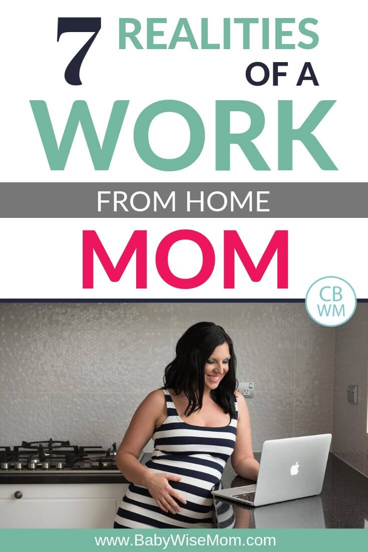 Work from home mom pinnable image