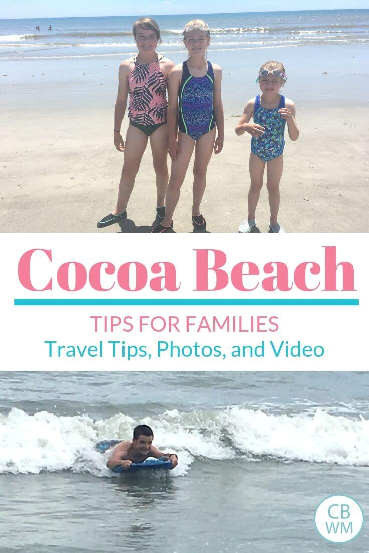 Cocoa Beach Florida Travel Tips Pinnable Image