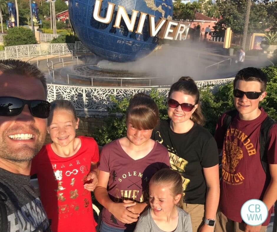 Family at Universal Studios Florida