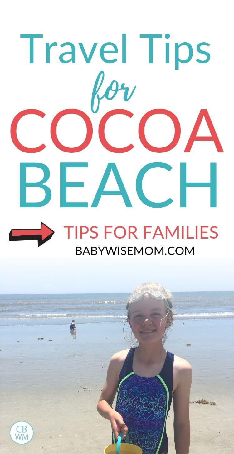 Cocoa Beach Travel Tips for Families Pinnable Image