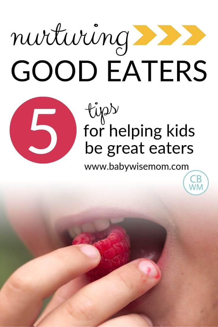 5 tips for nurturing good eaters pinnable image