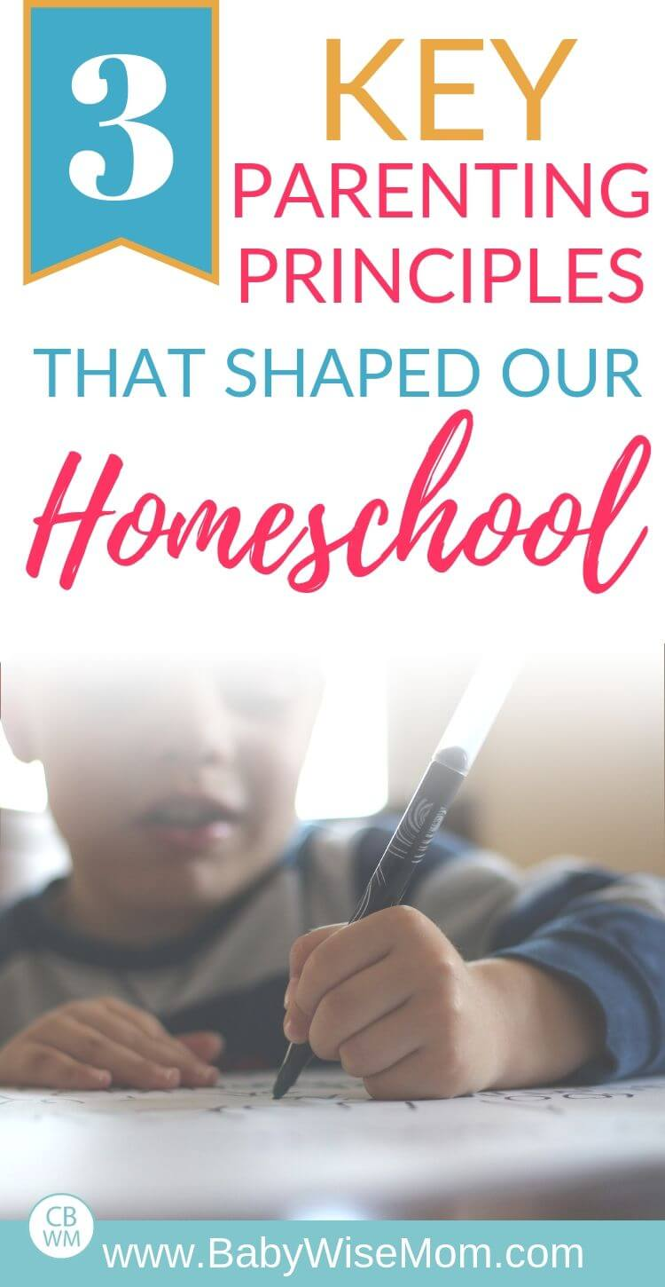 3 key parenting principles that shaped our homeschool pinnable image for pinterest