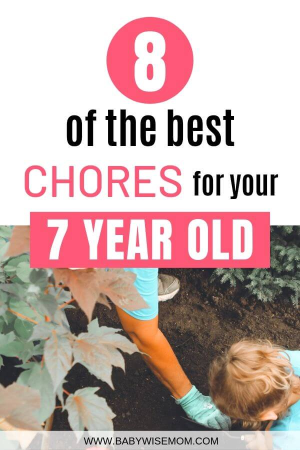 Best Chores for 7 year old Pinnable image