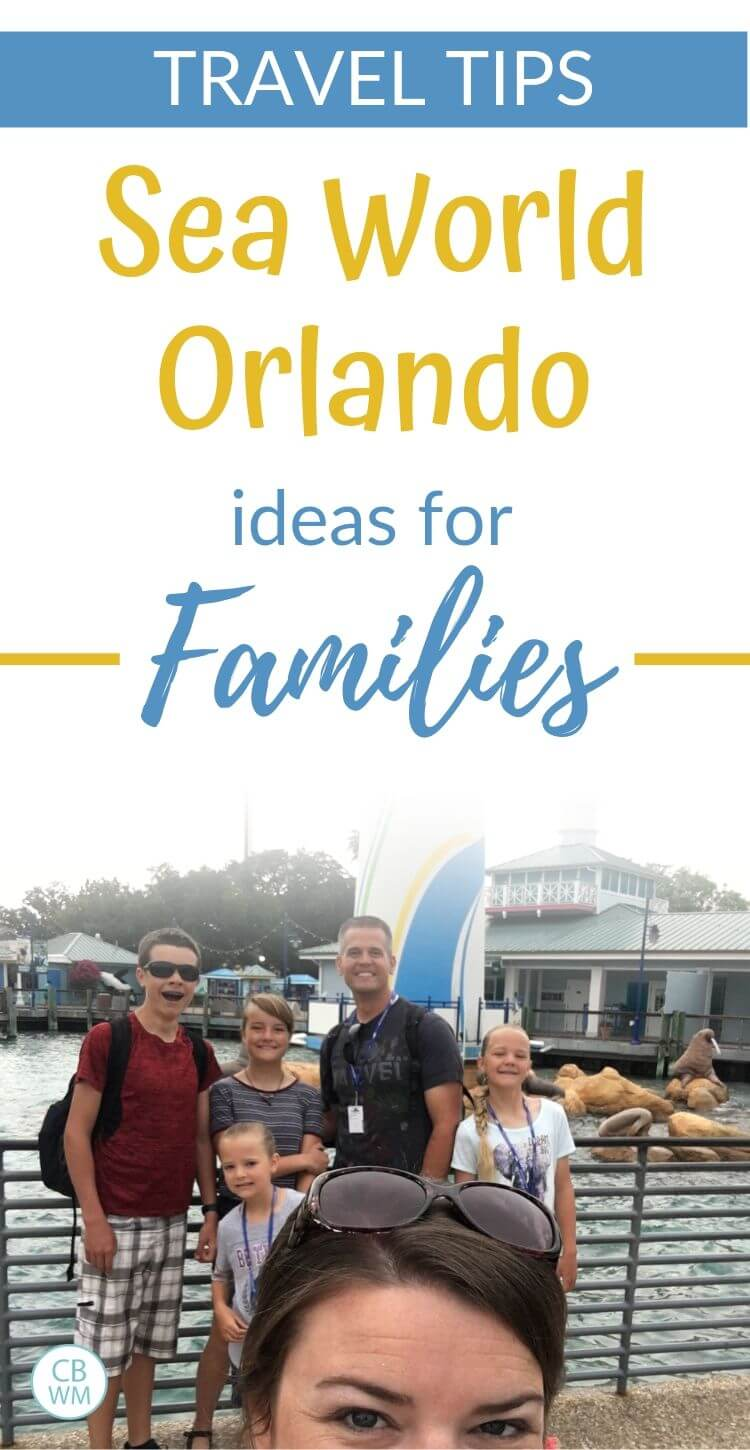 Sea World Orlando Travel Tips for families pinnable image
