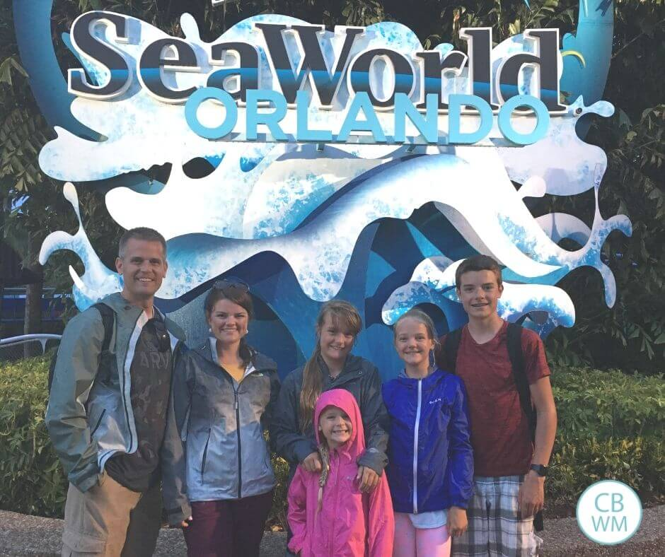 Family of 6 at Sea World, Olrlando