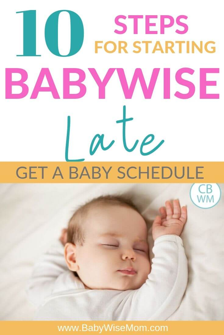 Babywise Late Guide Pinnable Image
