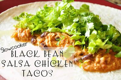Slowcooker Black Bean Salsa Chicken