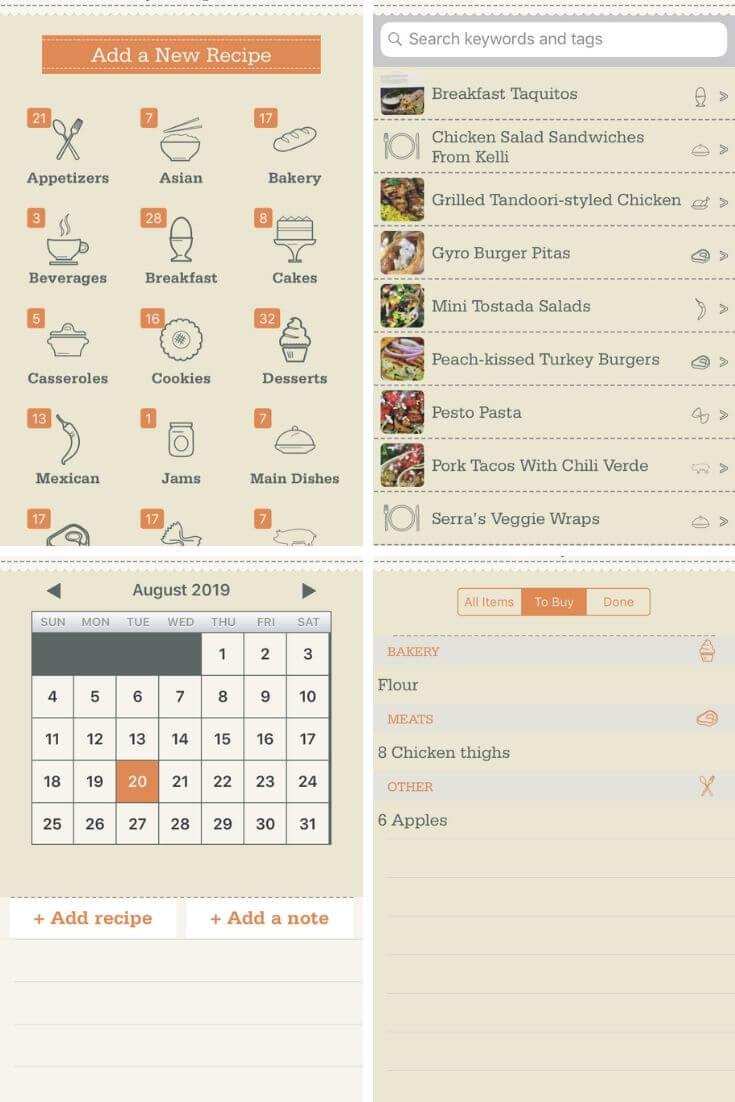 OrganizEat App screenshots