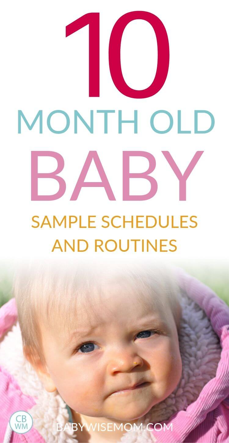 10 month old baby schedule Pinnable image