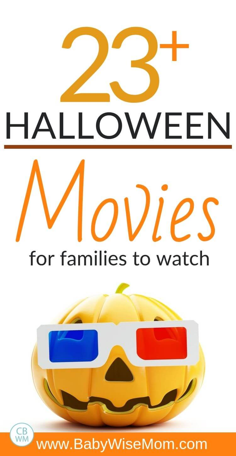 Halloween Movies for Families Pinnable Image