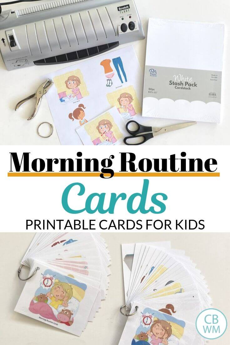 Morning Routine Cards Pinnable Image