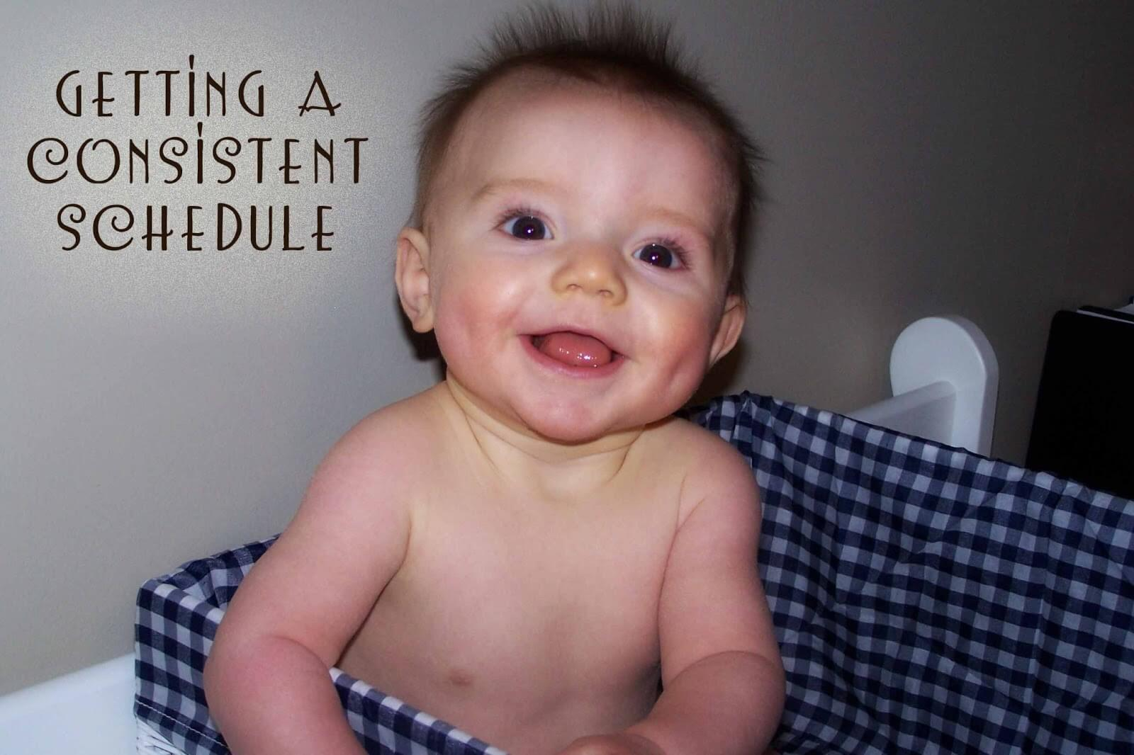 How to get your baby on a predictable and consistent schedule. Baby's days can be predictable and do not have to be random from day to day.