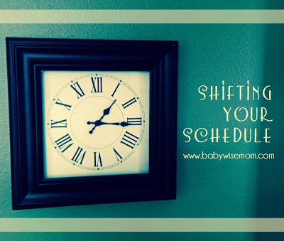 Tips for shifting your schedule. This post outlines how to change your child's schedule for the time  change or for traveling to different time zones. You can also use these tips to change the schedule to fit your needs better.