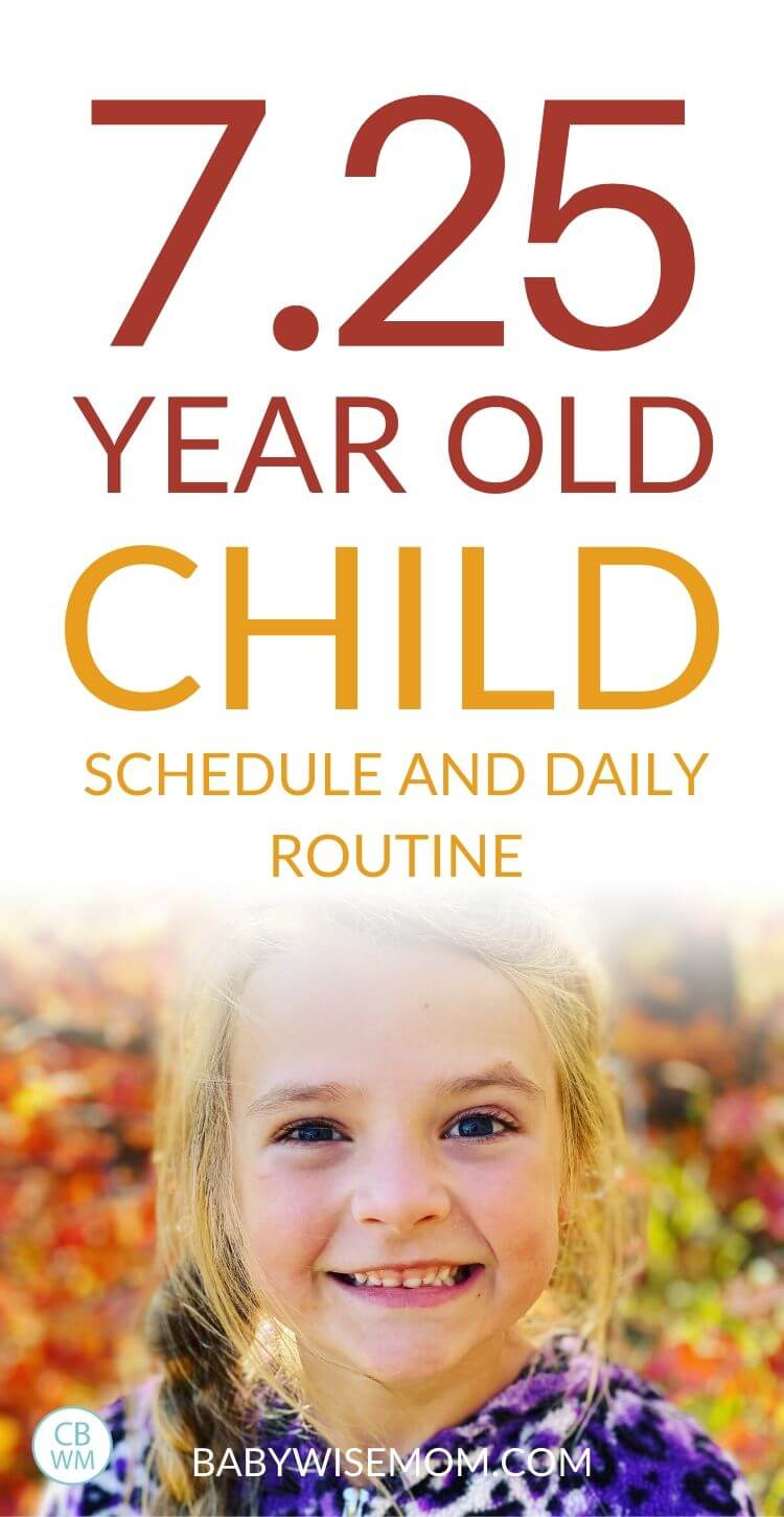 7.25 year old child schedule and routine