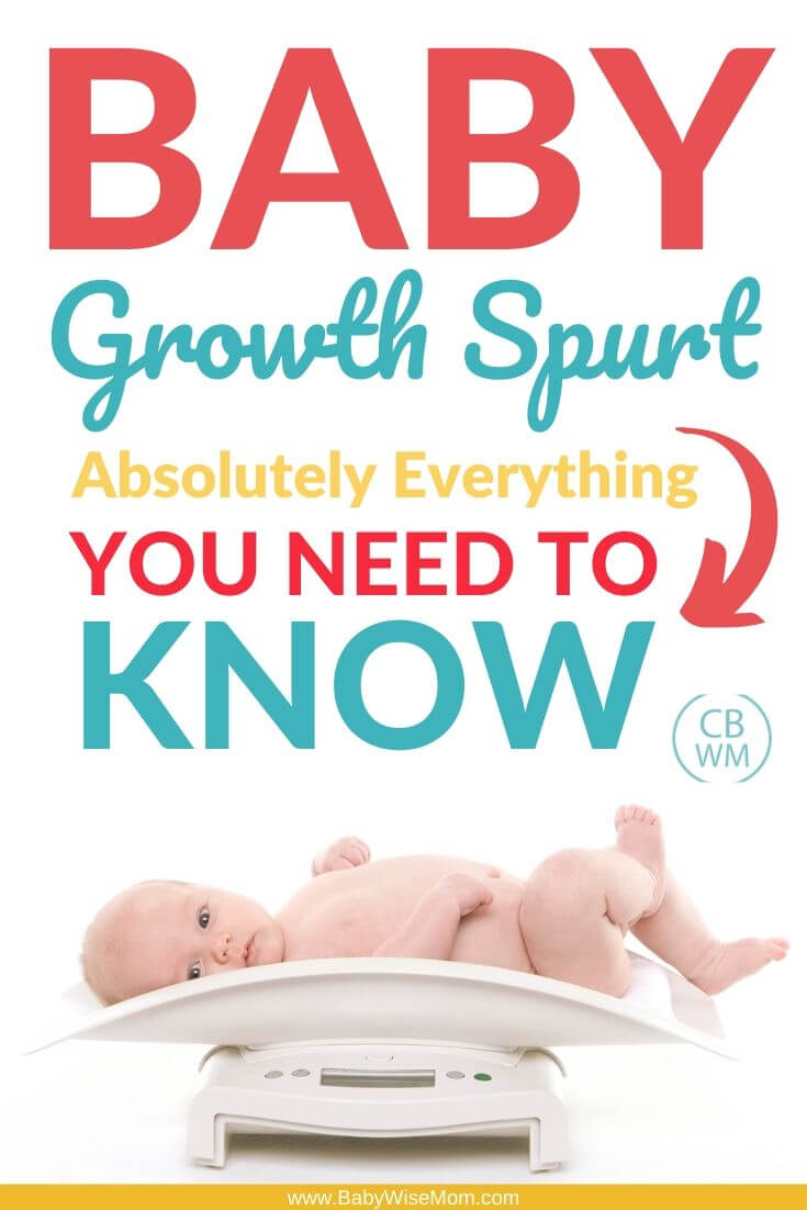 Baby Growth Spurt Pinnable image
