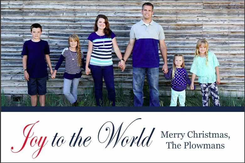2016 Plowman Family Christmas Card